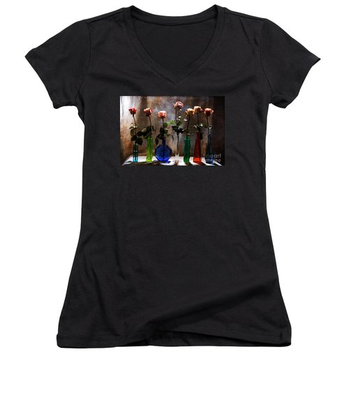 Before The Curtain Falls Women's V-Neck T-Shirt