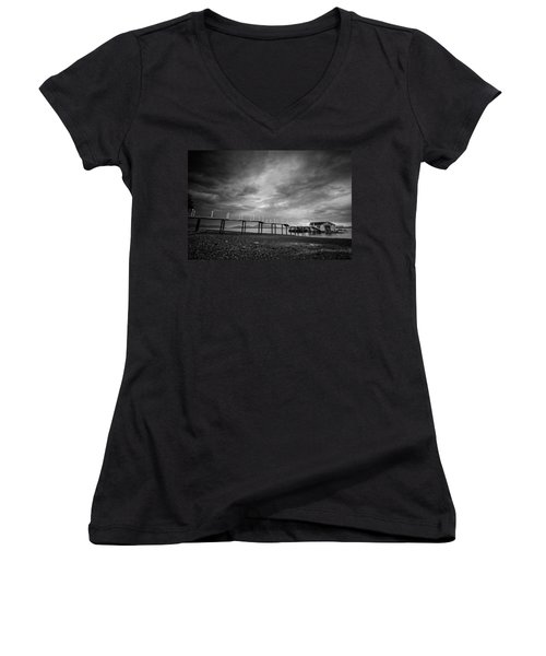 Before The Rain Women's V-Neck T-Shirt