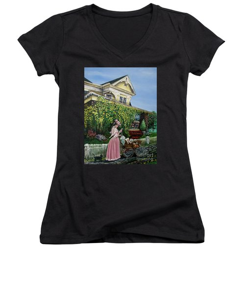 Behind The Garden Gate Women's V-Neck T-Shirt