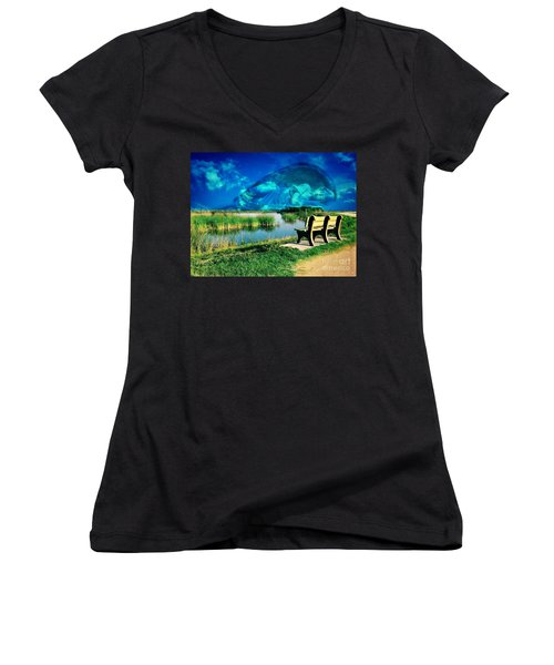 Believe In Your Dreams Women's V-Neck (Athletic Fit)