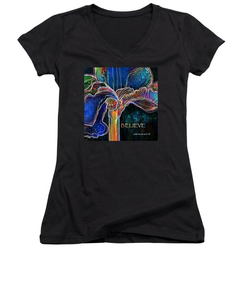 Believe Women's V-Neck T-Shirt