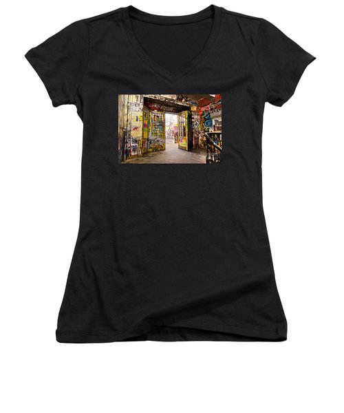 Berlin - The Kunsthaus Tacheles Women's V-Neck T-Shirt