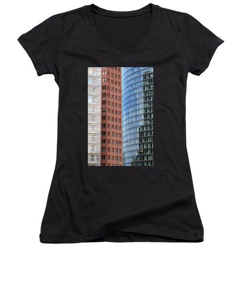 Berlin Buildings Detail Women's V-Neck