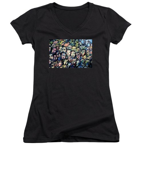 Berlin Wall Graffiti  Women's V-Neck