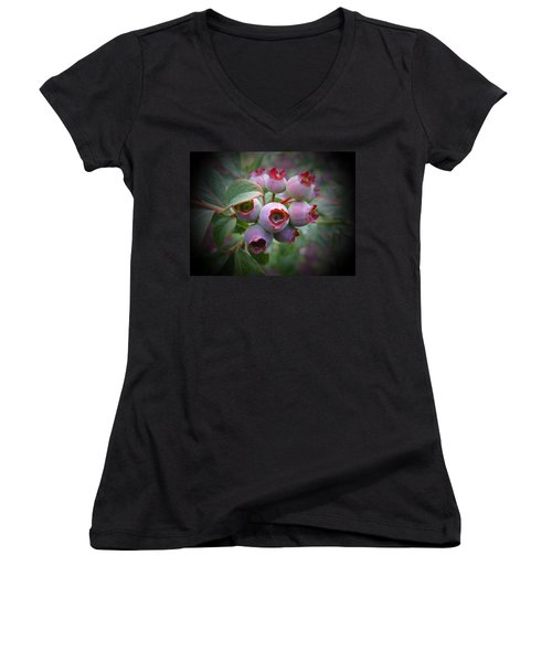Berry Unripe Women's V-Neck T-Shirt