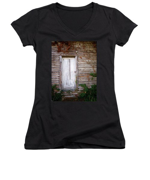 Better Days Women's V-Neck T-Shirt (Junior Cut) by Greg Simmons