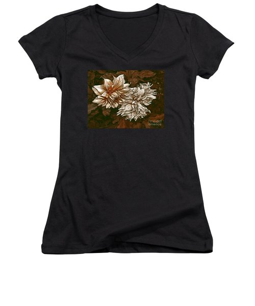 Women's V-Neck T-Shirt (Junior Cut) featuring the photograph Betty's Beauty 1 by Don Wright