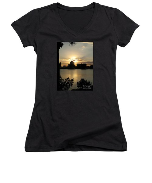 Between Day And Night Women's V-Neck T-Shirt (Junior Cut) by Christiane Schulze Art And Photography