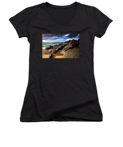 Between Rocks And Water Women's V-Neck T-Shirt