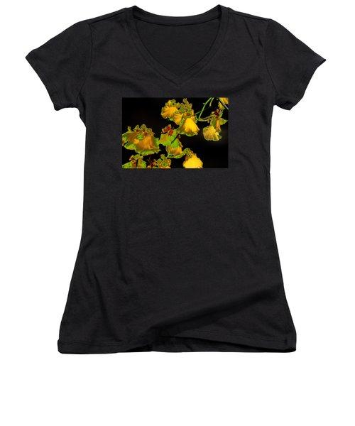 Women's V-Neck T-Shirt (Junior Cut) featuring the photograph Beyond Beyond by Ira Shander