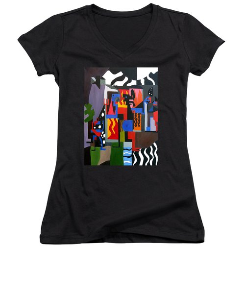 Bicloptochotik Women's V-Neck T-Shirt