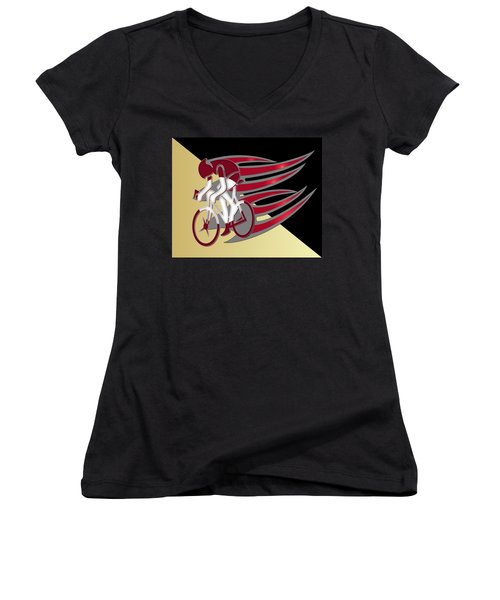 Bicycle Rider Series 01 Women's V-Neck