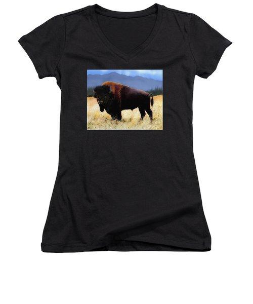 Big Bison Women's V-Neck