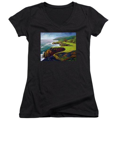 Big Sur 2 Women's V-Neck T-Shirt