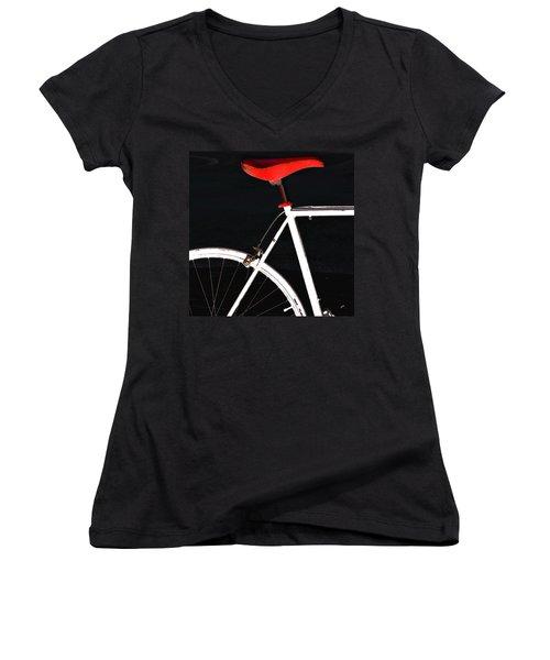 Bike In Black White And Red No 1 Women's V-Neck