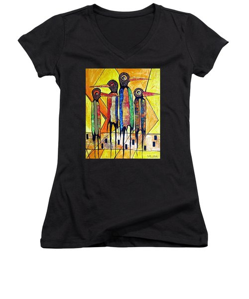 Birds 738 - Marucii Women's V-Neck (Athletic Fit)