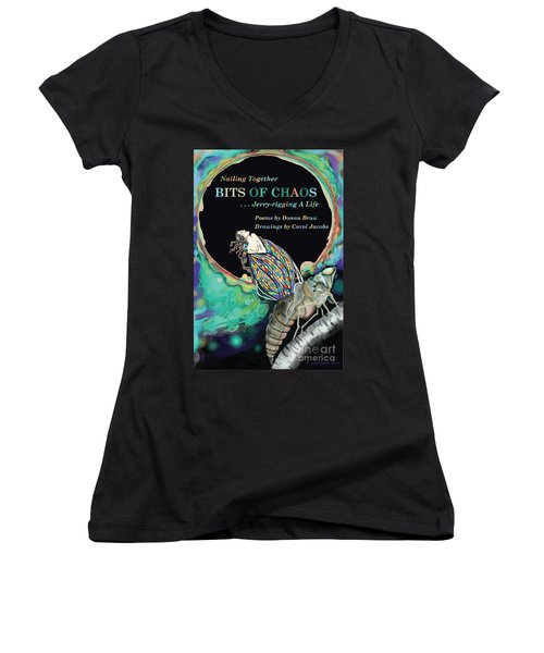 Bits Of Chaos Book Cover Women's V-Neck (Athletic Fit)
