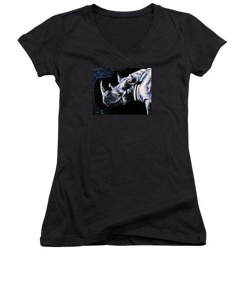 Black Rino Women's V-Neck T-Shirt
