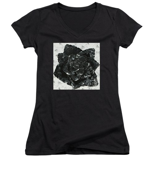 Black Rose I Women's V-Neck