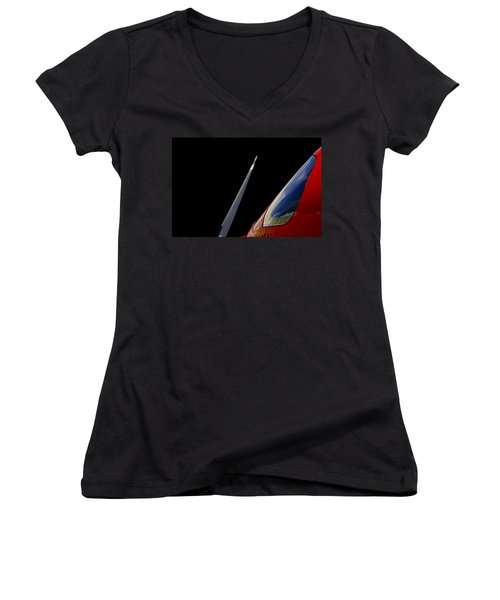 Blade Runner Women's V-Neck T-Shirt (Junior Cut) by Paul Job