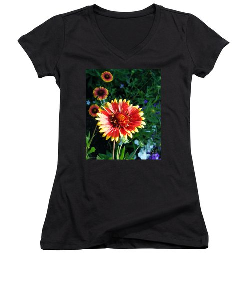 Blanket Flower Women's V-Neck (Athletic Fit)