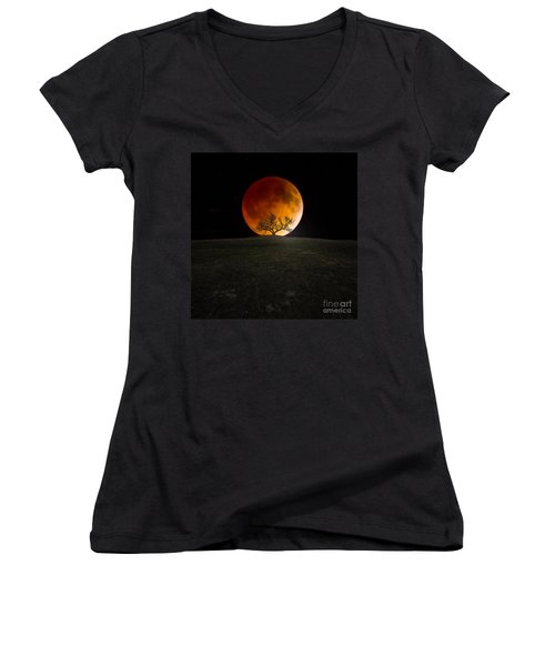 Blood Moon Women's V-Neck