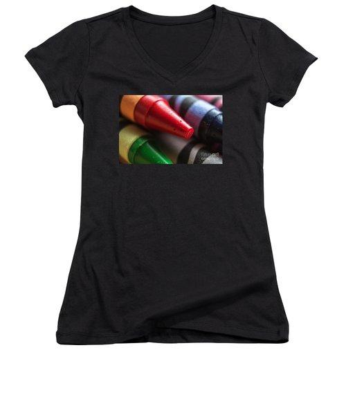 Blood Orange Women's V-Neck T-Shirt (Junior Cut) by Arlene Carmel