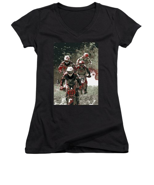 Blood Sweat And Dirt Women's V-Neck