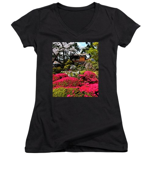 Blooming Gardens 2 Women's V-Neck T-Shirt
