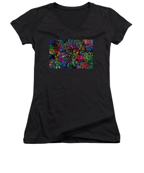 Bloop Nebula Women's V-Neck T-Shirt