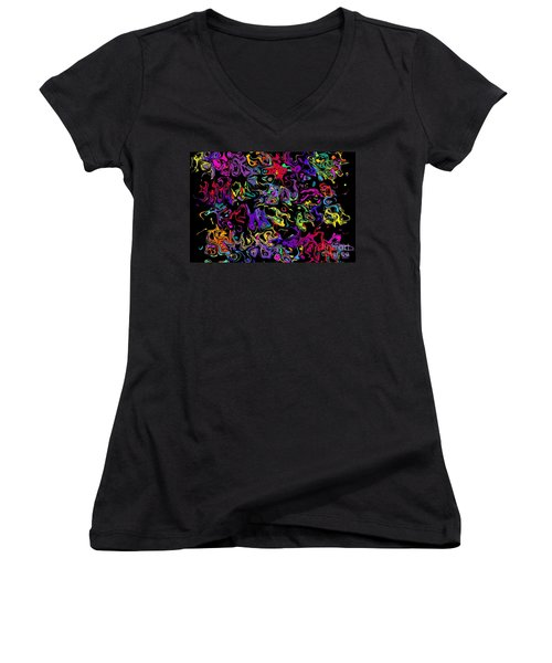 Women's V-Neck T-Shirt (Junior Cut) featuring the photograph Blorks by Mark Blauhoefer