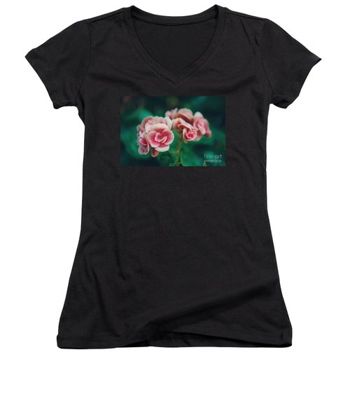 Women's V-Neck featuring the photograph Blossom by Yew Kwang