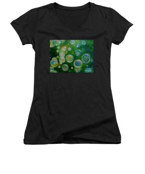 Blowing Bubbles Women's V-Neck T-Shirt