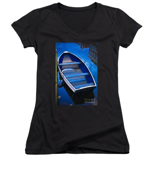 Blue Boat Women's V-Neck (Athletic Fit)