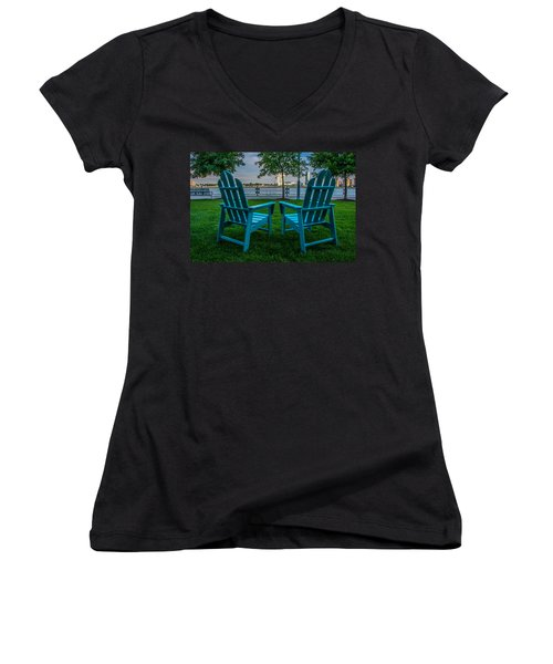 Blue Chairs Women's V-Neck T-Shirt