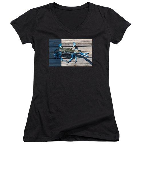 Blue Crab Pincher Women's V-Neck