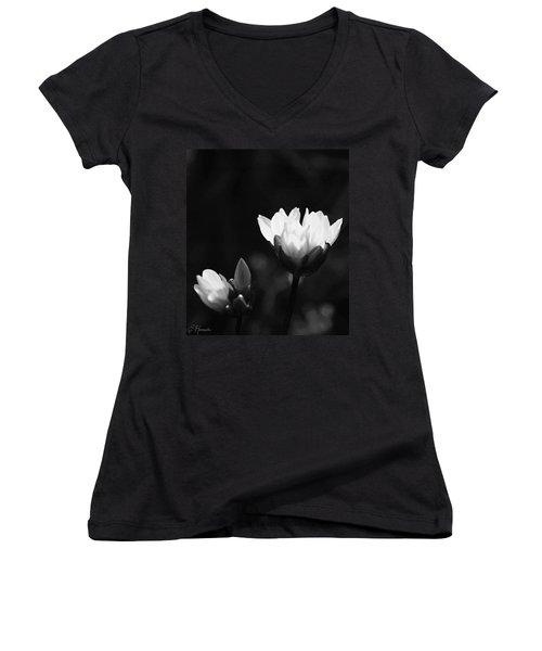 Blue Dick 1 Women's V-Neck T-Shirt (Junior Cut) by Ellen Henneke