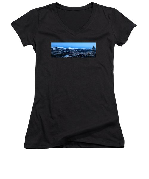 Blue Hour In Breckenridge Women's V-Neck (Athletic Fit)