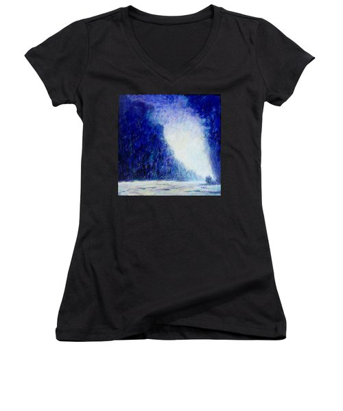 Blue Landscape - Abstract Women's V-Neck