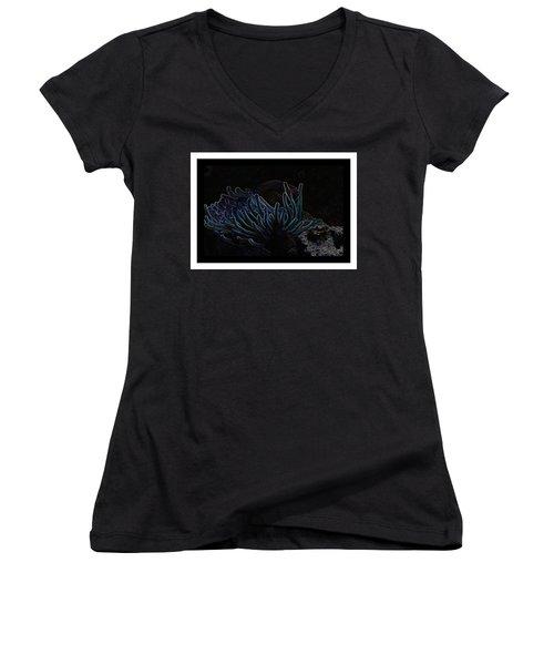 Blue Magic Light Fish  Women's V-Neck T-Shirt
