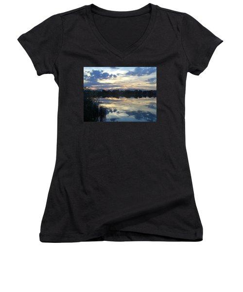 Blue Mirror Women's V-Neck T-Shirt