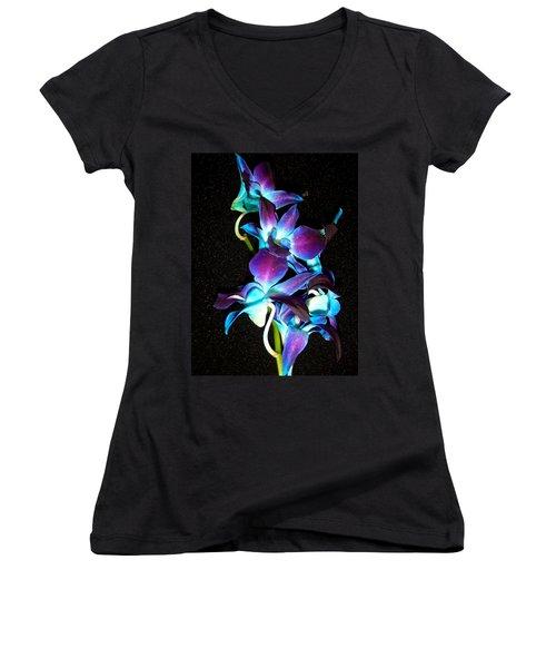 Blue Orchids Women's V-Neck T-Shirt