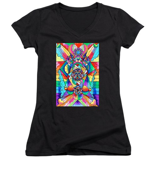 Blue Ray Transcendence Grid Women's V-Neck (Athletic Fit)