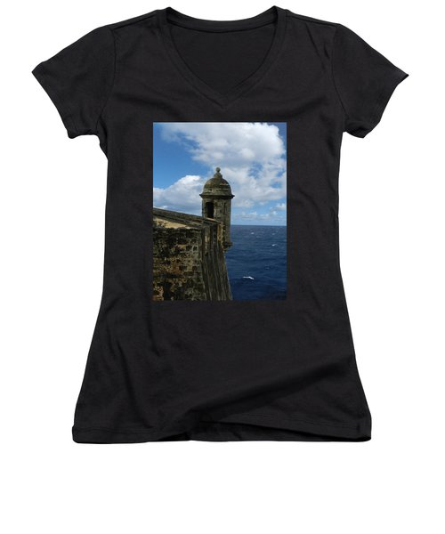 Blue Skies On The Horizon Women's V-Neck (Athletic Fit)