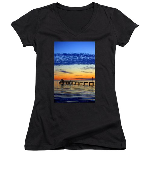 Blue Sky Women's V-Neck T-Shirt