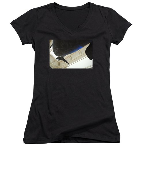 Blue Whale Experience Women's V-Neck T-Shirt