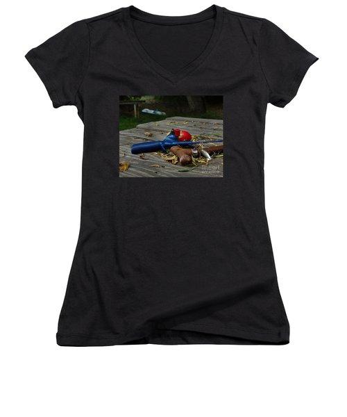 Blured Memories 02 Women's V-Neck T-Shirt (Junior Cut) by Peter Piatt