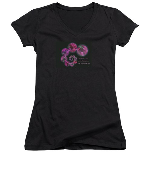Women's V-Neck T-Shirt (Junior Cut) featuring the photograph Blustery Day Haiga by Judi and Don Hall