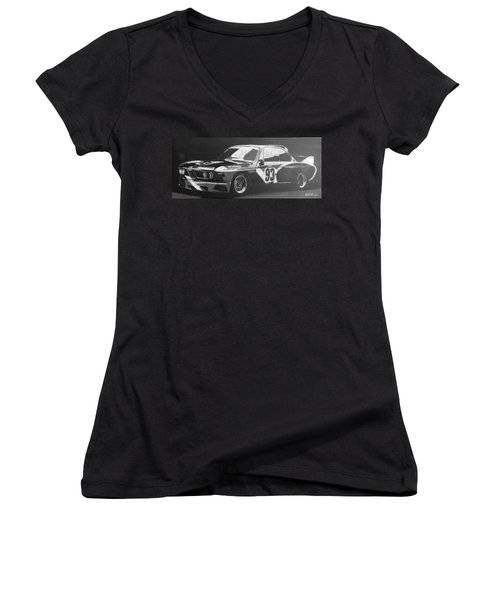 Bmw 3.0 Csl Alexander Calder Art Car Women's V-Neck