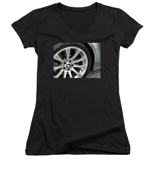 B M W M5 Women's V-Neck T-Shirt